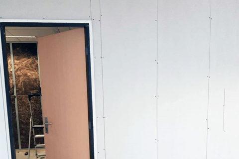 Metal stud wand kantoor