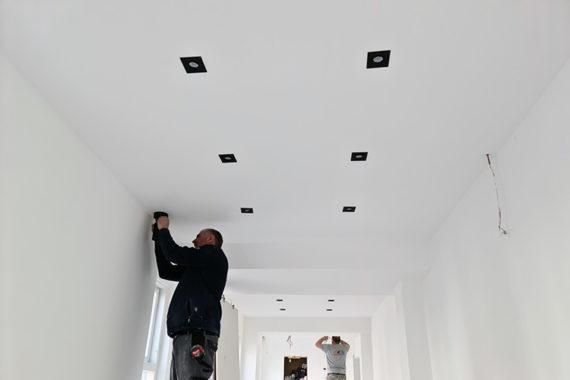 Plafond Spotjes Montage Verbouwing Kapsalon